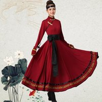 Moğol Kostüm Giysileri Çin Halk Dans Kostümleri Giyim Elbise Sahne Dans Giyim Performans Moğol Elbise TA2130