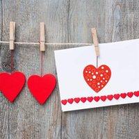 사랑의 심장 모양의 스티커 8 패턴 1 인치 빨간색 접착제 레이블 발렌타인 데이 씰 스티커 웨딩 파티 용품 새로운 4YH J2