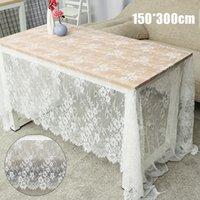 Скатерть вышивка кружева белый старинный кухня чай журнальный столик крышка ткань для вечеринки свадьба отель декор f1214