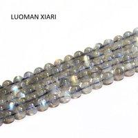 Luoman Xiari Runde Natürliche Labradorite Mondstein Steinperlen für Schmuckherstellung DIY Armband Material 4/6/7 / mm Strang 15''1