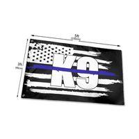 경찰 K9 얇은 파란 라인 3x5 발 깃발 야외 플래그 푸른 삶과 함께 3 x 5 피트 물질 깃발을 기리는 법 집행관