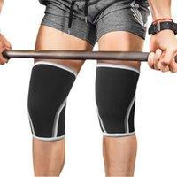 1 пара неопреновые коленные колодки мужчины женщин женские гимнастики фитнес спортивная безопасность тяжелая атлетика сжатие колена бортовые поддержки ноги рукава Protection1