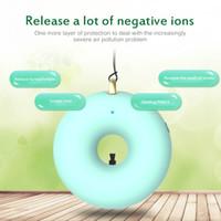 Collar de niños Purificador de aire Ionizador negativo Anion Mini Mini Wearable Air Ambientador Cuello Colgante Cuello Purificador USB Limpiador de aire portátil Regalo de Navidad