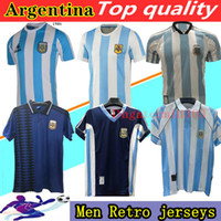 1978 1986 1996 1994 1998 2006 2014 Argentinien Maradona Retro Fussball Jersey Caniggia Batistuta Riquelme Ortega Home Away Football Shirt