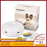 Inteligente gato juguete mascota eléctrica pluma automática divertido gato juguetes interactivo 3 modos divertido perro dispositivo de alta calidad gato casero suministros 201217