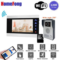 [Weitwinkel 150 °] Homefong 7 Zoll Smart Wifi-Video-Türsprechanlage Intercom-System Türklingel mit Kamera Home Security Record Unlock1