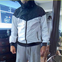 패션 새로운 남자 여자 재킷 봄 가을 가을 캐주얼 스포츠 착용 의류 윈드 브레이커 후드 지퍼 위로 코트