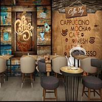 Wallpapers Drop Po Tapete Retro Holz Café Hintergrund Fototapete Restaurant Lounge Bar Individuelle Dekoration