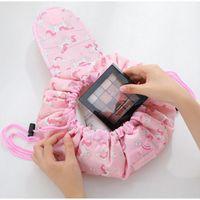 Covbler القديم 2021 جديد كلية فتاة حقيبة مستحضرات التجميل حقيبة نايلون القماش اللون الرباط تصميم حقيبة تخزين سعة كبيرة تسليم مجاني