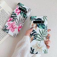 Художественный цветочный чехол для телефона для Samsung Galaxy A51 S8 S9 S10 S20 Plus Ultra S10E S11 S11E Note 10 Pro A71 A40 A70 A50 Soft Banana Leaf