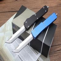 Nueva MI UT85 D Versión de la cuchilla del cuchillo Camping Survival Cuchillo de caza Cuchillos Copias ZT Banco Hecho Auto Matic