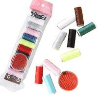 Costura Noções Tools 12 Color Thread Agulha Definir Saco Domésticos Para Tecelagem e Artesanato DIY Supplies