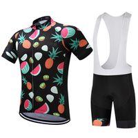 2021 البطيخ الدراجات الفاكهة جيرسي 19d وسادة الدراجة السراويل مجموعة روبا ciclismo أكثر تنفس رجل المرأة الصيف الدراجات ارتداء