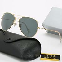 Herren Design Polarisierte Luxus Ray Sonnenbrille Männer Frauen Pilot Sonnenbrille UV400 Eyewear Bans Gläser Metallrahmen Polaroidobjektiv mit Box