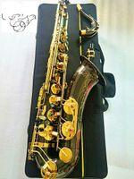 العلامة التجارية الجديدة B شقة تينور ساكسفون الأسود النيكل الذهب الموسيقية أداة ساكسفون المهنية والقضية