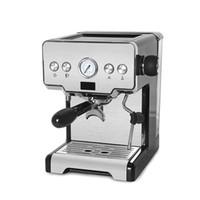 Heißer Verkauf 15Bar Halbautomatische Espresso-Kaffeemaschine Maschine Cappuccino Latte Milchschaumkaffeemaschine mit Filterhalter EU / Ukplug Y1201