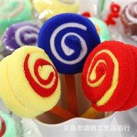 20pcs 롤리팝 케이크 수건 다채로운 사탕 선물 수건 면화 사랑스러운 수건 웨딩 파티 크리스마스 장식 선물 아이 aves1