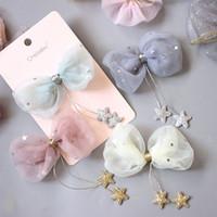 10 pz nuovi accessori per i capelli per bambini appeso Little Star Bow Hair Clip Girl's Headdress clip per capelli