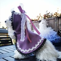 Free Shipping Handmade Dog Clothes Winter Coat Cute Girl Cape Woolen Cloak Light Warm Pet Cat Outer Poodle Maltese Drop Shipping