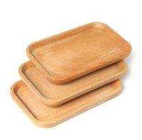 Placa de madeira prato quadrado frutas prato prato dessert biscoitos placa prato de chá bandeja de chá de madeira titular titular toca almofada mesa de mesa