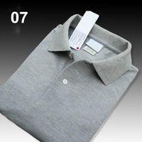 Lacoste Hot alta qualidade Crocodile Polo Homens Sólidos Algodão Shorts Polo Verão Polo Homme Mens T-Shirts Pólos Camisas Poloshirt HL07