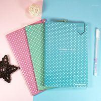 A5 Carino Candy Color Notebook punteggiato Dot Grid Journal Soft Cover Cancelleria Viaggi Planner Diary1