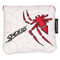 1PC 거미 자수 자석 골프 클럽 스퀘어 망치 퍼터 헤드 커버 헤드 커버