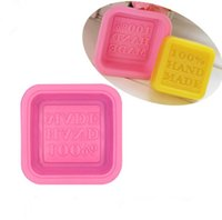 Moules de savon 100% à la main bricolage carré silicone moules de cuisson de pâte à pâtisserie