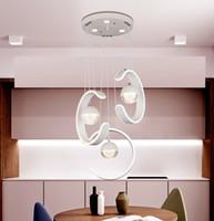 LED Modernes Esszimmer Kronleuchter Beleuchtung Aluminium Schmiedeeisen Silikon Kristall Kronleuchter Schlafzimmer Wohnzimmer Wohnzimmer Pendelleuchte