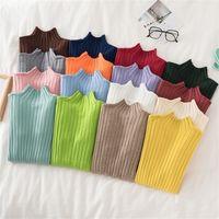 Croysier Pullover свитер вязаные женщины зима высокая шея базовый тонкий повседневный ребристый вязаный топ осенняя одежда женщина свитеров 201016