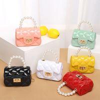 2021 Kinder Neue Perle PVC Tragbare Mini Candy Farbe Kleine Gelee Tasche Mode Lässige Kleinwechsel Tasche