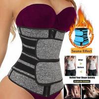 US Stock, Midja Trainer Kvinnor Slimming Sheath Tummy Reducera Shapewear Belly Shapers Sweat Body Shaper Bastu Korsett Trimmer Bälten