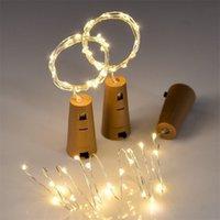 Batterie incluse 10pcs 1m 2m LED Stringa Lampade a stringhe per bottiglia di vino Tappo di tappo a sughero a forma di sughero per la festa Decorazione di nozze 201006