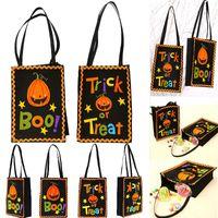 Sacos de presentes de abóbora de Halloween para crianças crianças festa feixe porta cordão sacos de presente de doces