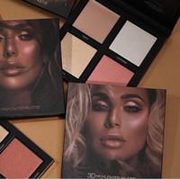 4 cor de alto brilho olho sombra 3d vestirpowder sombra para maquiagem fosco sombra shimmer paleta frete grátis e melhor qualidade