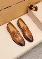 Tasarımcı erkekler üzerinde kayma resmi ayakkabı iş resmi elbise ayakkabı deri erkek elbise ayakkabı zarif takım ofis ayakkabı sıcak loafer'lar