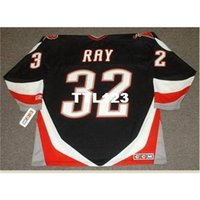 421 # 32 ROB RAY BUFFALO SABERS 1999 CCM Retro Hóquei Jersey ou Personalizado Qualquer nome ou Número Retro Jersey