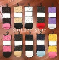 Fashion Spring Automne Candy-Colory-Coloré Pile Fille Chaussettes Tendance Coton Athlétique Long Stock