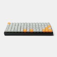 Idobo 75 Tasten ortholineares Layout QMK eloxiertes Aluminium-Gehäuse-Platten-Hot-swap-swap-swap-Typ C PCB Mechanisches Tastatur-Kit LJ200925