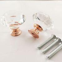 30 мм алмазные хрустальные ручки двери стеклянные ящики ручки кухонные шкаф мебельные ручки ручки винтовые ручки и вытягивает домашнее оборудование eef4787