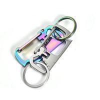 3 colori in acciaio inox catena chiave multi-funzione apri righello portachiavi appendere fibbia portachiavi porta bottiglia di birra aprita cyz2952