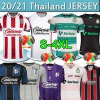 LIGA MX 2020 2021 Jersey de football Camisetas De Fútbol Club Deportivo Guadalajara Chivas Santos Laguna Queretaro FC Hommes Kits Chemise de football 4XL