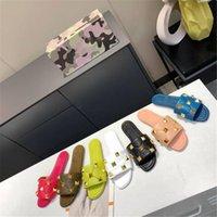 Lüks Koyun Kadın Terlik Ev Kapalı ve Açık Sandalet Terlik Bayanlar Perçin Flip Flop Düz Ayakkabı 7 Renkler