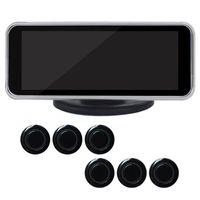 Cámaras de vista trasera Cámaras Sensores de estacionamiento Zumbador Visual inteligente Voz con sonda Dual Core Parktronic Sensor de seguridad Kit Universal LCD DIGIT