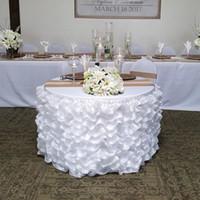 Tulle TUTU таблица юбка скатерть корейский органза белая розовая посуда украшения свадьбы день рождения детское душевая вечеринка украшения