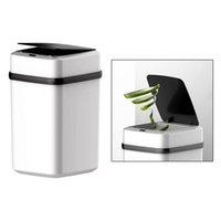 Lata de lixo do sensor de 3 galões, lixeira pequena de plástico para casa de banho, quarto, casa, escritório, sala de estar, cozinha