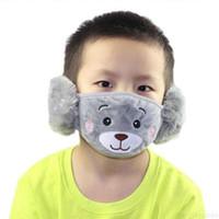 Oreja invierno Cálido oso con 8679C9B4DF49 Dibujos animados para niños Chicas Peluche BCCA máscara 1 Niños Muffs BOTSTD