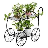Metallpflanzenständer Schmiedeeiserne Blumentopfregale im Freien Innengarten im Freien