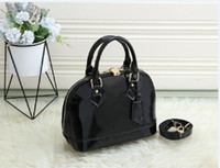 Black Classic Shell Bag Damier Patent Growbiring in pelle Grid Borse Borse Borse Borse Donne Donne Crossbody Borsa Shopping Tote