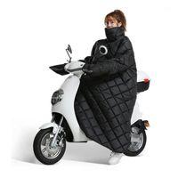 Motocycle سباق الملابس سكوتر Windproof لحاف الشتاء الدافئة سميكة غطاء دراجة نارية مع قفازات ليلة العاكس الأوساخ مقاومة الزجاج الأمامي